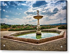 The Monkeys Fountain At The Gardens Of The Knight In Florence, Italy Acrylic Print