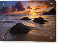 Surrounded By The Sea Acrylic Print by Mike  Dawson