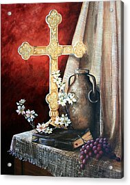 Survey The Wonderous Cross Acrylic Print by Cynara Shelton