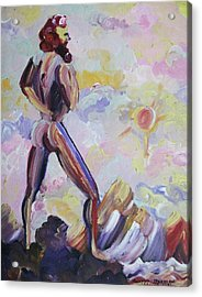 Surveying Creation Acrylic Print by Suzanne  Marie Leclair