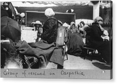 Survivors Of The Titanic Disaster Acrylic Print by Everett