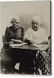 Susan B. Anthony And Elizabeth Cady Acrylic Print by Everett