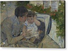 Susan Comforting The Baby Acrylic Print
