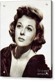 Susan Hayward, Vintage Hollywood Actress By John Springfield Acrylic Print by John Springfield