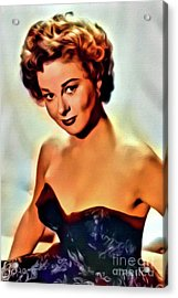 Susan Hayward, Vintage Hollywood Actress. Digital Art By Mb Acrylic Print by Mary Bassett