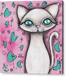 Susan  Cat Acrylic Print by Abril Andrade Griffith