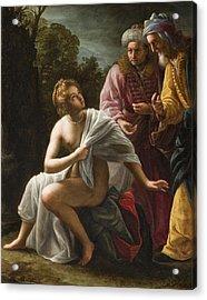 Susanna And The Elders Acrylic Print by Ottavio Mario Leoni