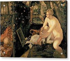Susanna Bathing Acrylic Print by Jacopo Robusti Tintoretto