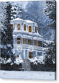 Susanville Elks Lodge At Christmas Acrylic Print