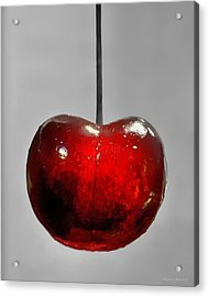 Acrylic Print featuring the photograph Suspended Cherry by Suzanne Stout