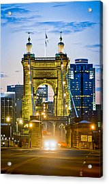 Suspension Bridge Acrylic Print by Scott Meyer