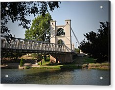 Suspension Bridge-waco Texas Acrylic Print