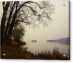Susquehanna River Near Veterans Memorial Bridge Acrylic Print