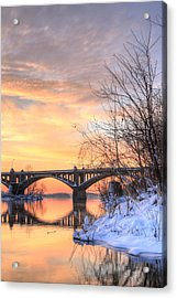 Susquehanna Sunrise Acrylic Print by JC Findley