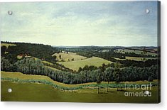 Sussex England - Landscape In Oils Acrylic Print