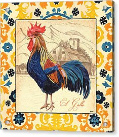 Suzani Rooster 1 Acrylic Print