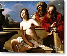 Acrylic Print featuring the painting Suzanna And The Elders by Pg Reproductions