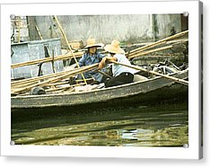Acrylic Print featuring the photograph Suzhou Market  by R Thomas Berner