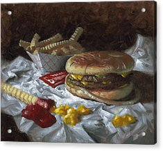 Suzy-q Double Cheeseburger Acrylic Print by Timothy Jones
