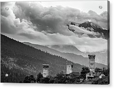Acrylic Print featuring the photograph Svan Towers by Francesco Emanuele Carucci