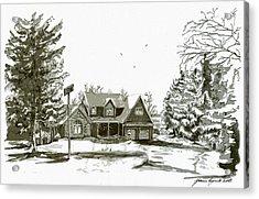 Svege Ny In Winter Acrylic Print by Yvonne Ayoub