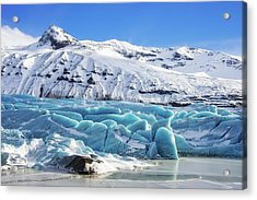Acrylic Print featuring the photograph Svinafellsjokull Glacier Iceland by Matthias Hauser