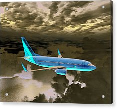 Acrylic Print featuring the digital art Swa 001 by Mike Ray
