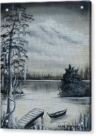 Swamp Boat Acrylic Print