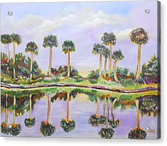 Swamp Palms Acrylic Print by Patricia Piffath