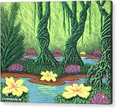 Swamp Things 02, Diptych Panel A Acrylic Print