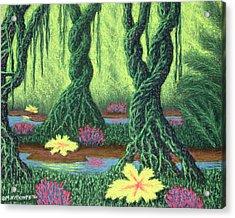 Swamp Things 02, Diptych Panel B Acrylic Print