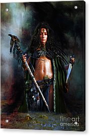 Acrylic Print featuring the digital art Swamp Witch by Shanina Conway