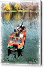 Swan Boats Boston Public Gardens Acrylic Print by Edward Fielding