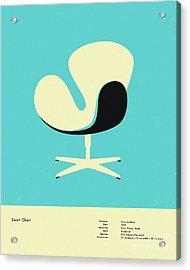 Swan Chair 1958 Acrylic Print