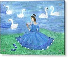Swan Lake Reader Acrylic Print by Sushila Burgess