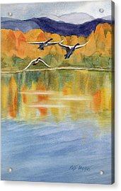 Acrylic Print featuring the painting Swan Lake Revisited by Kris Parins
