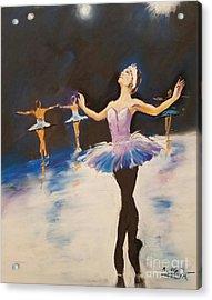 Swan Lake Acrylic Print by Rose Wang