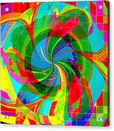 Acrylic Print featuring the digital art Swan-river by Loko Suederdiek