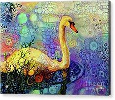 Swan Spectacular Oil Acrylic Print