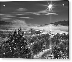 Swan Valley Winter Black And White Acrylic Print
