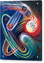 Acrylic Print featuring the painting Swandance by Thomas Lupari