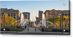 Swann Fountain In The Springtime Acrylic Print