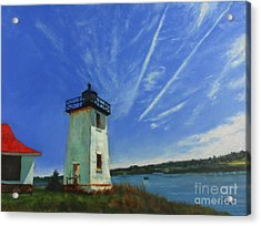 Swans Island Lighthouse Acrylic Print