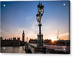Swapping Lights Acrylic Print by Giuseppe Torre