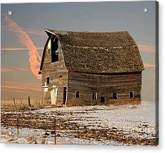 Swayback Barn Acrylic Print by Kathy M Krause