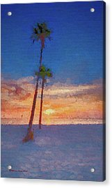 Acrylic Print featuring the photograph Swaying Palms by Marvin Spates