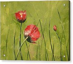 Swaying Poppies Acrylic Print