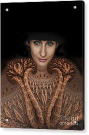 Sweater Girl Acrylic Print