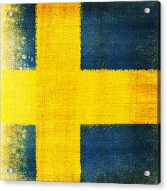 Swedish Flag Acrylic Print by Setsiri Silapasuwanchai