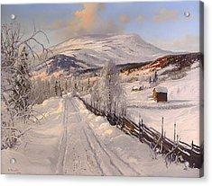 Swedish Winter Landscape Acrylic Print